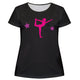 Black and pink gymnast silhouette girls blouse with name - Wimziy&Co.