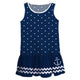 Anchor Name Navy Polka Dots Lily Dress - Wimziy&Co.