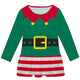 Green and red stripes elf costume girls lily dress - Wimziy&Co.