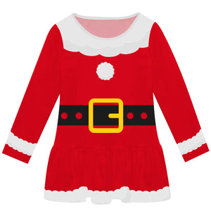 Red santa custome girls lily dress - Wimziy&Co.