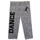 Gray glitter dance girls leggings