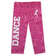 Hot pink glitter and white girls dance leggings - Wimziy&Co.