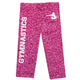 Hot pink glitter gymnastics capri leggings