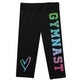 Black and multicolor gymnast girls capri leggings - Wimziy&Co.