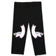 Black and white llamas girls capri leggings - Wimziy&Co.