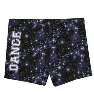 Black and white stars girls dance shorts - Wimziy&Co.