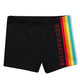 Black and rainbow gymnastics shorts - Wimziy&Co.