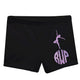 Black and purple gymnast shorts with monogram - Wimziy&Co.