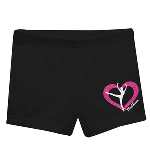 Black and hot pink gymnast short with name - Wimziy&Co.