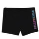 Black and multicolor glitter gymnast shorts with name - Wimziy&Co.