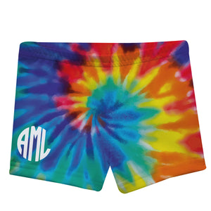 Monogram Tie Dye Colors Shorties - Wimziy&Co.