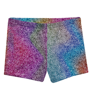 Multicolor glitter girls shorts with name - Wimziy&Co.