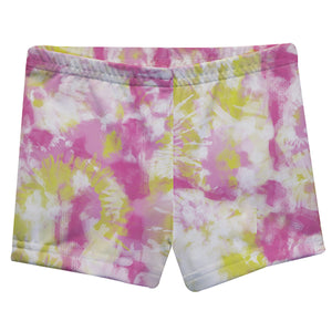 Monogram Pink and Yellow Tie Dye Shorties - Wimziy&Co.