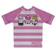 Cats Name Pink and White Stripes Rash Guard - Wimziy&Co.