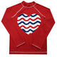 Heart Red Long Sleeve Girls Rash Guard - Wimziy&Co.
