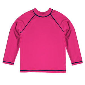 Monogram Hot Pink Long Sleeve Rash Guard - Wimziy&Co.