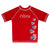 USA Hearts Name Red Short Sleeve Rash Guard - Wimziy&Co.