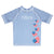 USA Hearts Name Light Blue Short Sleeve Rash Guard - Wimziy&Co.