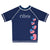 USA Hearts Name Navy Short Sleeve Rash Guard - Wimziy&Co.