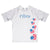 USA Hearts Name White Short Sleeve Rash Guard - Wimziy&Co.