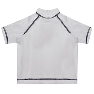 Monogram White Short Sleeve Rash Guard - Wimziy&Co.