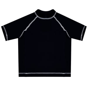 Monogram Black Short Sleeve Rash Guard - Wimziy&Co.