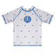 Whale Print Monogram White Short Sleeve Rash Guard - Wimziy&Co.