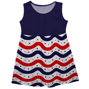 Stars Name Blue Red and White Tank Dress - Wimziy&Co.