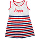 Name Stripes White and Red Tank Dress - Wimziy&Co.