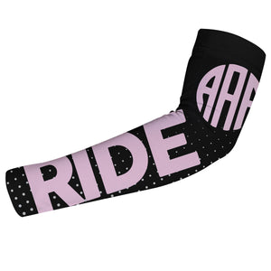 Black and pink equestrian arm sleeve with monogram - Wimziy&Co.