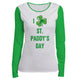 I Love St Paddys Day White and Green Long Sleeve Tee Shirt - Wimziy&Co.