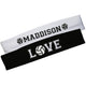 Love Volleyball Name White and Black Headband Set - Wimziy&Co.
