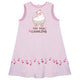 Light pink 'Keep being llamazing' girls a line dress - Wimziy&Co.