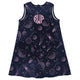 Space Print Monogram Navy A Line Dress - Wimziy&Co.