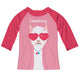 Pink and red 'Llamazing' raglan tee shirt - Wimziy&Co.