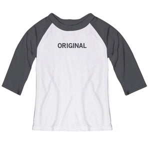 Original at your year white and gray raglan tee shirt - Wimziy&Co.