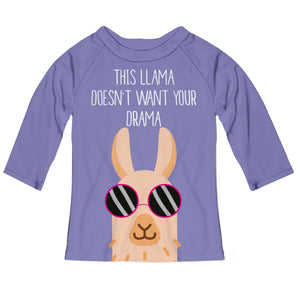 Purple 'This llama does not want your drama' three quarter sleeve blouse - Wimziy&Co.