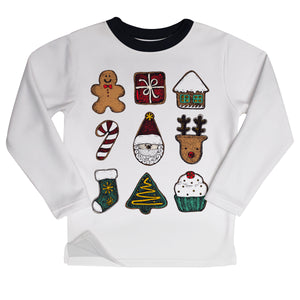 Christmas elements white fleece sweatshirt - Wimziy&Co.