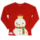 Big snowman red fleece sweatshirt - Wimziy&Co.