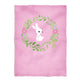 Bunny crown name light pink minky blanket - Wimziy&Co.