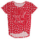 All You Need Is Love Red Knot Top - Wimziy&Co.
