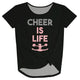 Cheer Is Life Black Knot Top - Wimziy&Co.