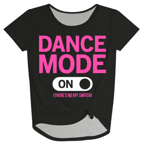 Black and pink 'dance mode' girls knot top - Wimziy&Co.