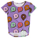 Donuts Print Purple Knot Top