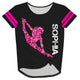 Black and hot pink dancer knot top with name