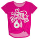 Hot pink happy birthay knot top with age - Wimziy&Co.