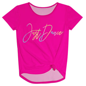 Just Dance Hot Pink Knot Top - Wimziy&Co.