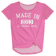 Made in your year short sleeve pink blouse - Wimziy&Co.