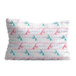 Mermaid and name print white pillow case - Wimziy&Co.