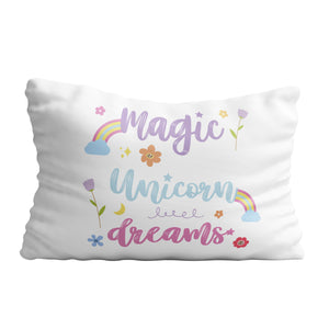 Magic unicorn dreams white pillow case - Wimziy&Co.